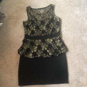 Dynamite peplum dress